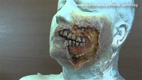 zombie flesh tutorial halloween torn face cheap n easy youtube