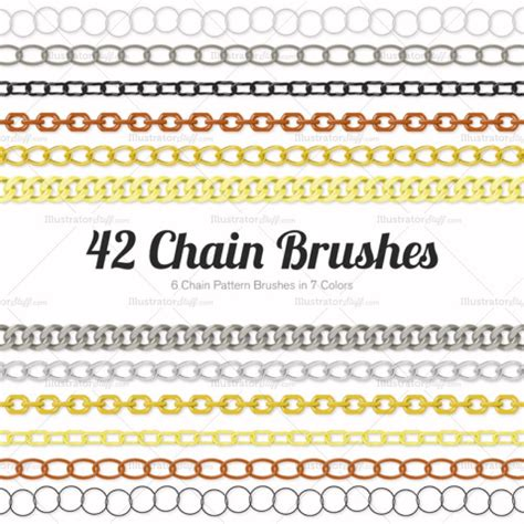 edit pattern brush illustrator chain pattern brush library illustrator stuff