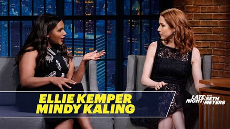 mindy kaling ellie kemper ellie kemper and mindy kaling reminisce about the office