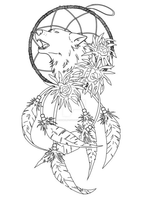 wolf dreamcatcher tattoo idea by emowolfie1145 on deviantart