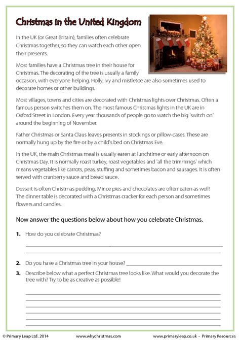 free christmas printable worksheets reading comprehension comprehension worksheets year 5 with answers uk