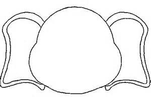 elephant craft template elephant template clipart best