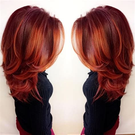 copper brown hair on pinterest color melting hair blonde hair exte best 25 red hair with highlights ideas on pinterest
