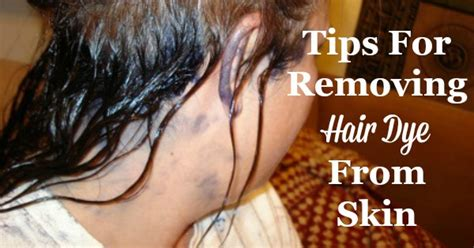 removing hair color from skin tips for removing hair dye from skin