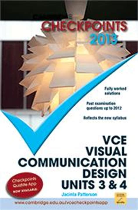 vcaa study design visual communication cambridge checkpoints vce visual communication design