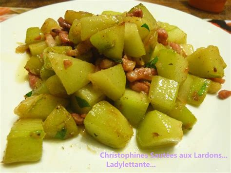 cuisiner la christophine la chayotte ou christophine ladylettante