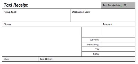 taxi invoice template taxi invoice or receipt excel templates free templates