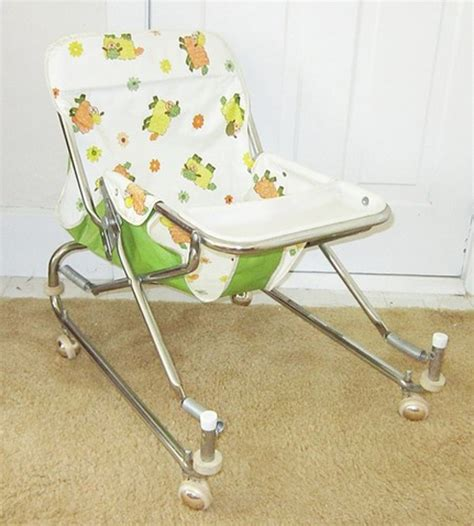 baby high chair swing combo old school baby items that look more like torture devices