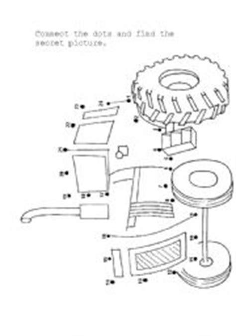 printable dot to dot tractor english worksheet tractor