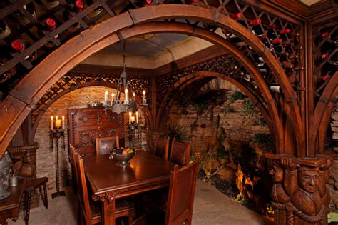 ornate wine cellar eclectic wine cellar minneapolis