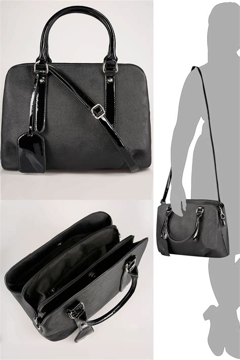 Free Gift Cards Without Completing Offers - black compartment grab bag with patent trims extended strap