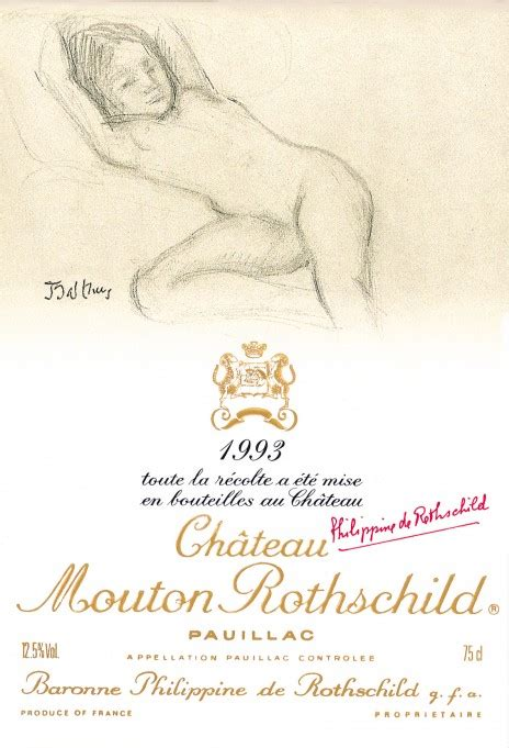 ch 226 teau mouton rothschild the labels room mouton rothschild 1993 balthus