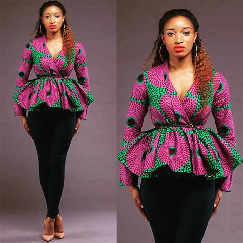 Tops Style by Beautiful Ankara Peplum Tops For A Beautiful Weekend A