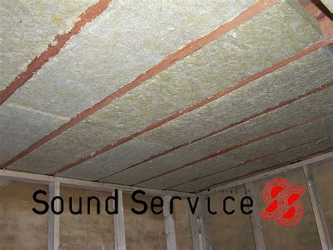 Ceiling Noise Insulation by Acoustic Mineral Wool For Cavities In Stud Walls And Floor