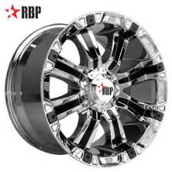 20 In Truck Wheels 20 Quot Rbp 94r 20 Inch Chrome Offroad Truck Rims Wheels Nitto