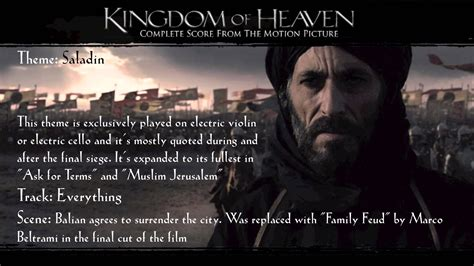 themes of the kingdom of heaven kingdom of heaven soundtrack themes saladin youtube