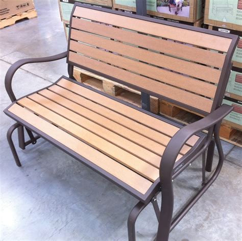 wood bench glider outdoor glider bench wood outdoor decorations
