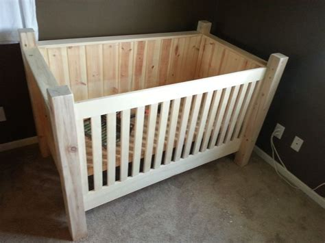 Diy Wood Crib Things I Ve Made Pinterest Trees Diy Baby Crib Plans