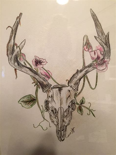 deer skull tattoo deer skull drawing my projects