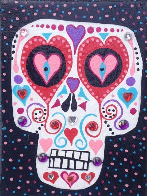 skull valentines sugar skull painting by kerri ambrosino gallery
