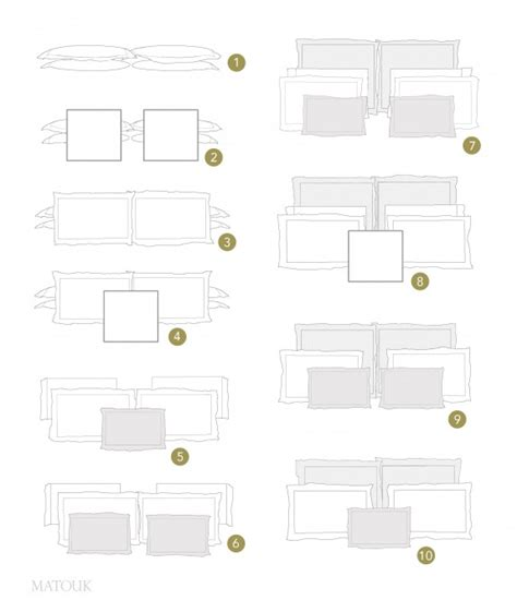 pillow sizes for queen bed styling your bed is easy with our pillow formations chart
