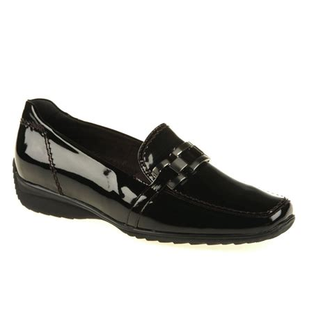 black patent loafer 62362 06 black patent loafer shoe from