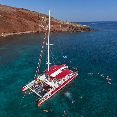 catamaran excursion santorini excursi 243 n en catamar 225 n de d 237 a en santorini