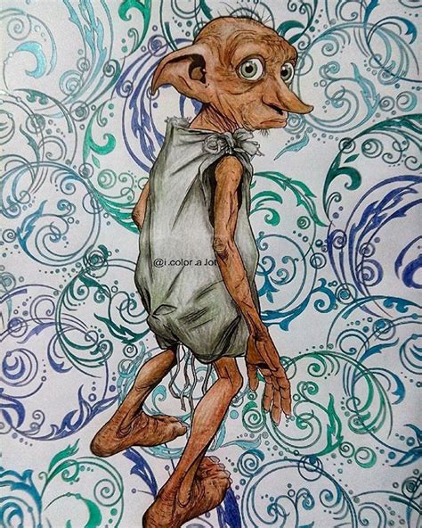 harry potter dobby coloring pages dobby harry potter colouring book 12th page done
