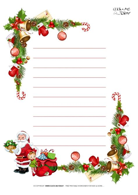 printable paper letter to santa free printable christmas paper letter to santa template