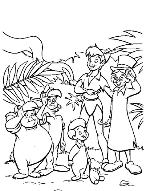 Peterpan Coloring Pages Pan Lost Boys Coloring Pages