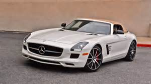 2014 mercedes benz sls amg coupe black series white side wallpaper