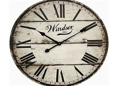 pop art products large wood wall clock vintage distressed