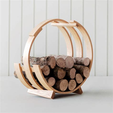 Fireplace Wood Basket log loop wood basket by tom raffield