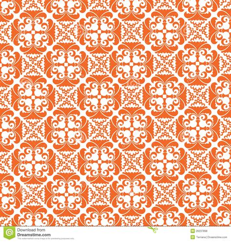 pattern motif xs seamless texture from orange floral motif stock vector