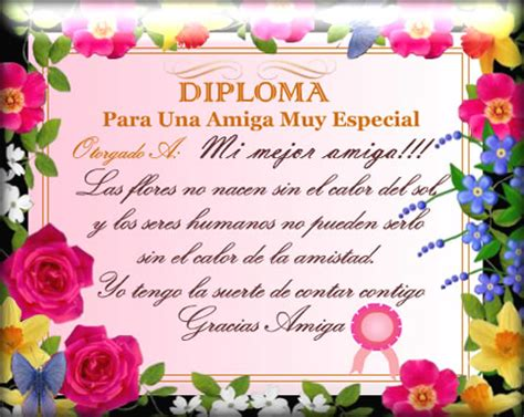 dedicatoria para una sobrina diploma para una amiga muy especial frases de amistad
