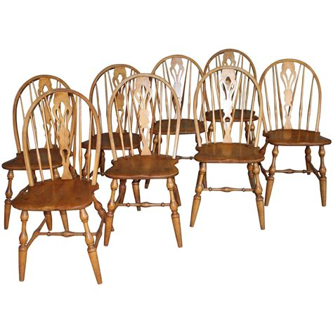 windsor dining room chairs english windsor bow brace back dining chairs with