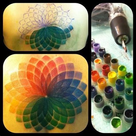 color wheel tattoo best 25 hairstylist tattoos ideas on