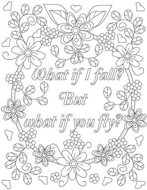 inspirational quotes coloring pages for adults inspirational quotes a positive uplifting by