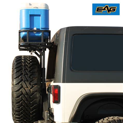 Rear Cargo Rack For Jeep Wrangler Black Rear Cargo Basket Rear Bumper With Tire Carrier For