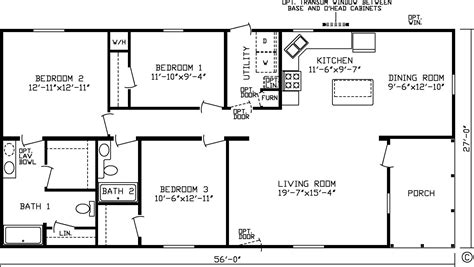 3 bedroom 2 bath modular home floor plans best of homes