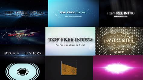 Top 10 Free Intro Templates No Plugins After Effects Intro Cs6 Cc Download Youtube After Effects Intro Templates Free Cc