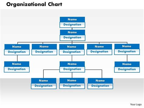 Organizational Chart Powerpoint Presentation Slide Template Powerpoint Hierarchy Template