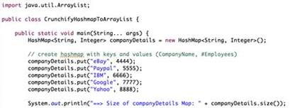 how to declare string in java how to convert hashmap to arraylist in java crunchify
