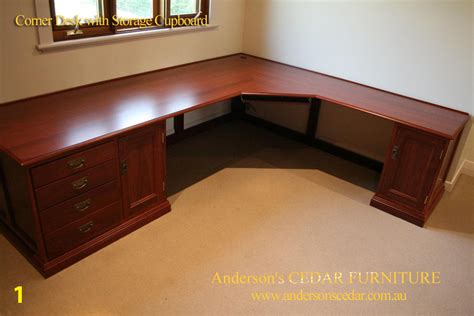 Corner Study Desk Office Furniture Made Timber Furniture