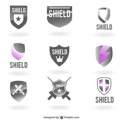 shield psd template vector shields logo templates vector free