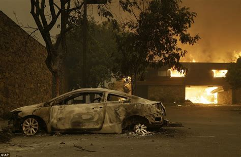 California Fires Drive From Homes To Hotels by California Wildfires Torch Homes In Wine Country Daily