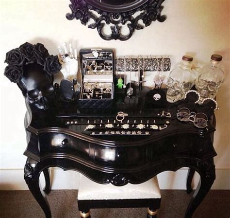 Skull Vanity by Black Skull Jewelry Vanity Deco And Design