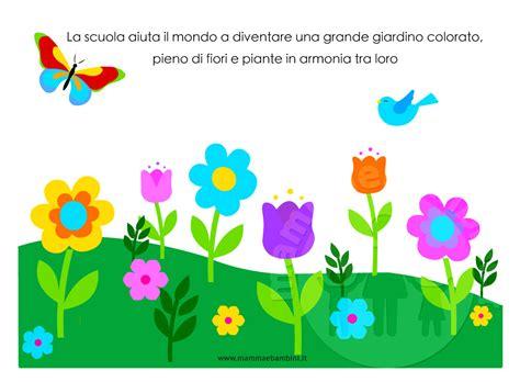 disegni colorati fiori disegno giardino con fiori da colorare mamma e bambini con