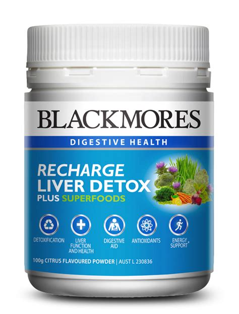 Liver Detox Australia by Blackmores Recharge Liver Detox With Superfoods Blackmores