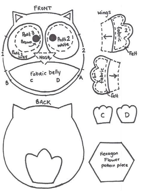 quirky artist loft free pattern felt owl